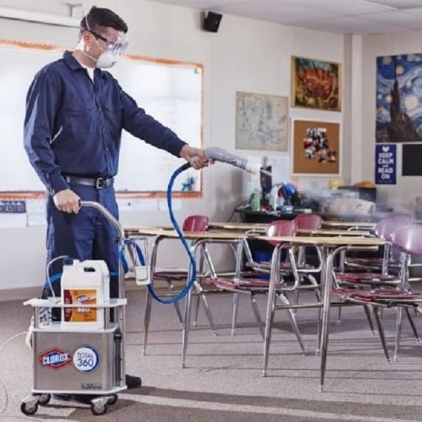Most effective surface cleaner for schools during cold and flu season